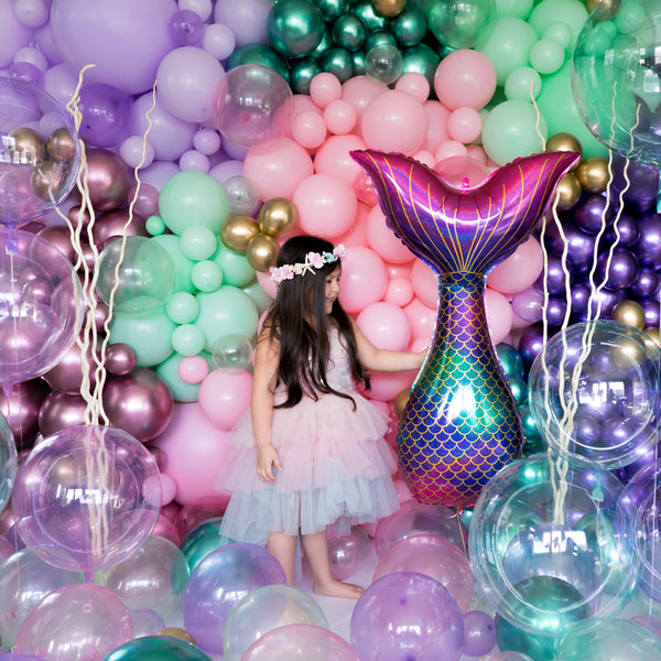 Mermaid Tail Holographic Balloon