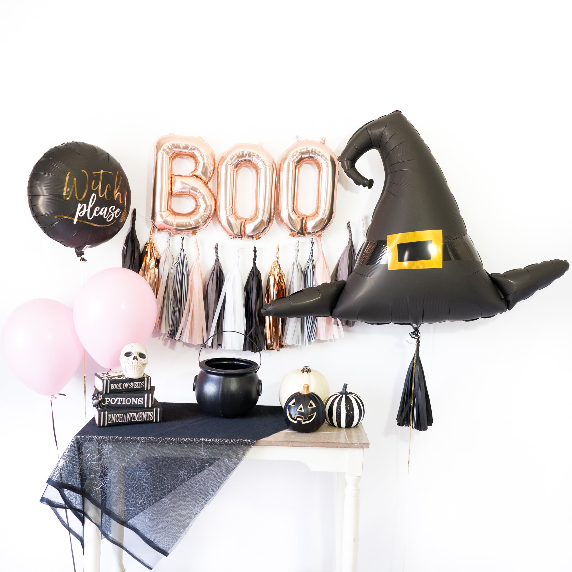 Rose Gold Boo! Witch Tassel Party Box