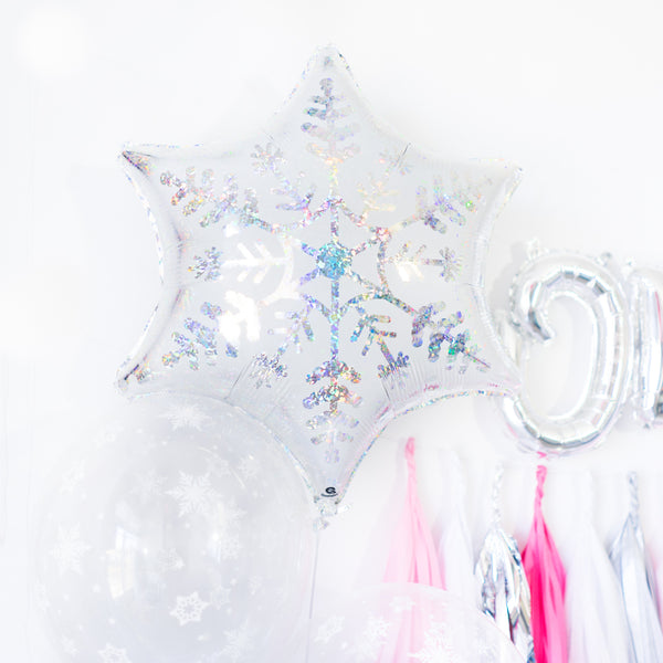 Pink Snowflake Winter Onederland Balloon Tassel Garland Party Box