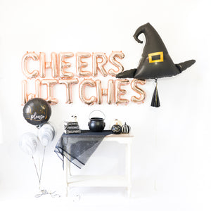 Rose Gold Cheers Witches Tassel Party Box