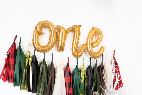 One Script Woodland Balloon Tassel Garland Party Box