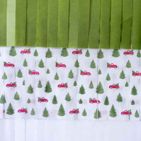 Red Truck Christmas Tree Balloon Backdrop Party Box