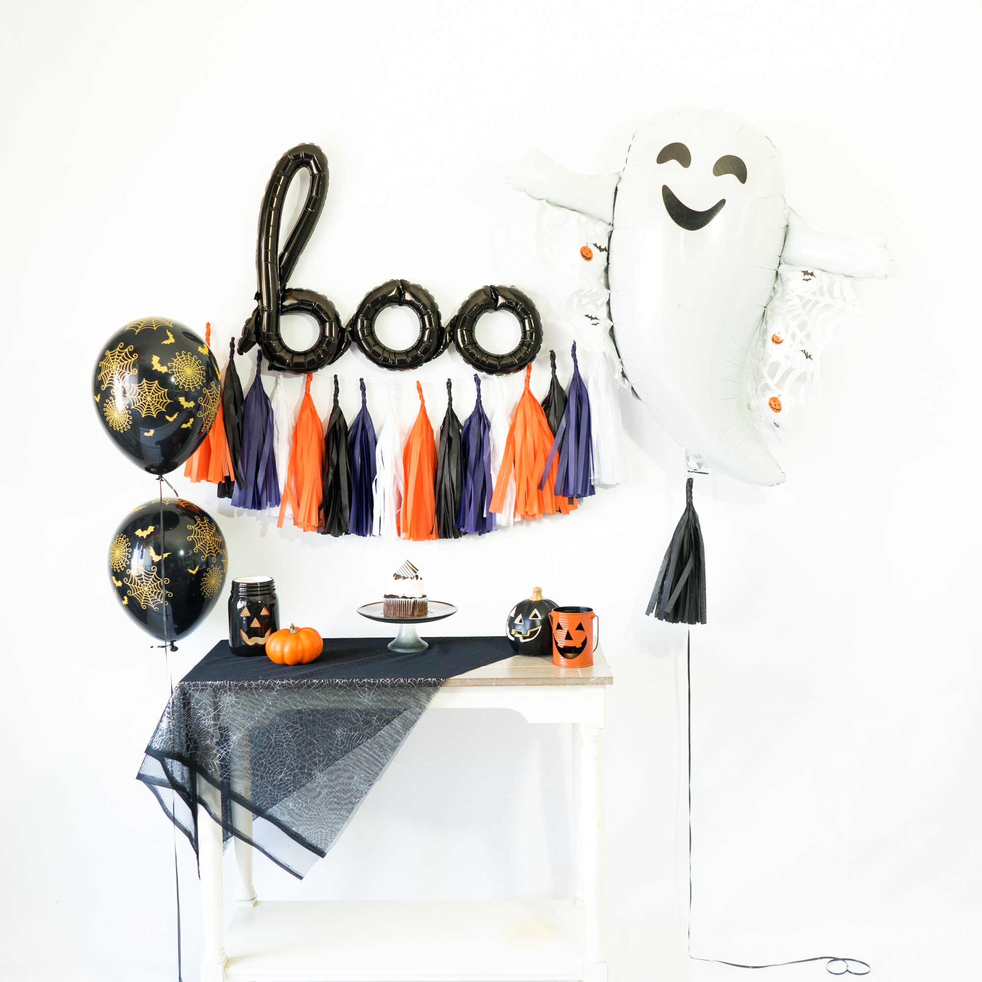 Boo! Halloween Monsters Balloon Tassel Party Box