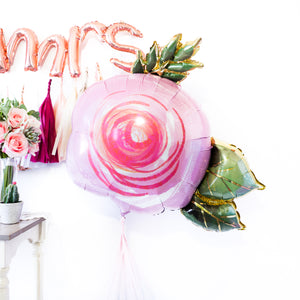 Blush Floral Balloon