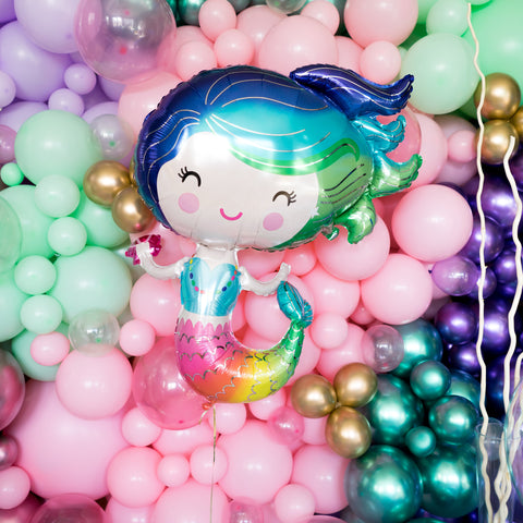 Rainbow Mermaid Balloon