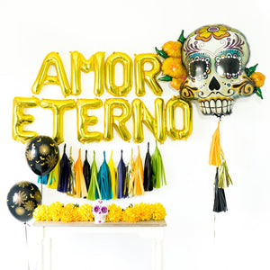Amor Eterno Tassel Balloon Party Box | Dark