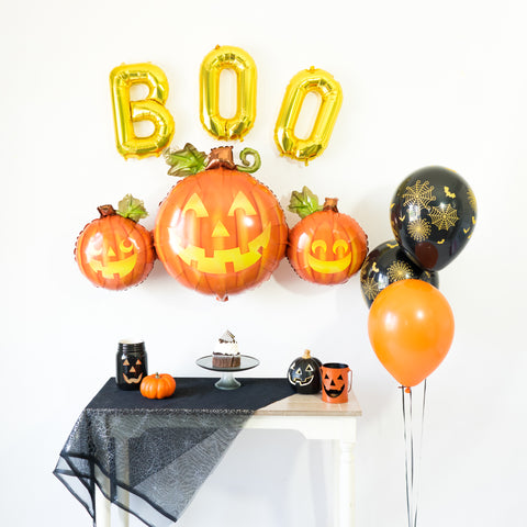 Jack O' Lantern Balloon Tassel Party Box