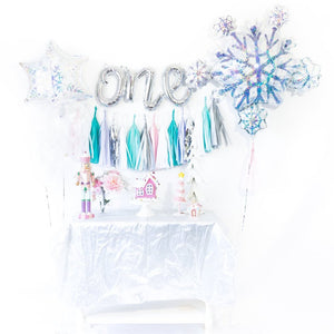 Snowflake Winter Onederland Balloon Tassel Garland Party Box