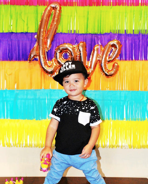 DIY Bright Fiesta Fringe Backdrop
