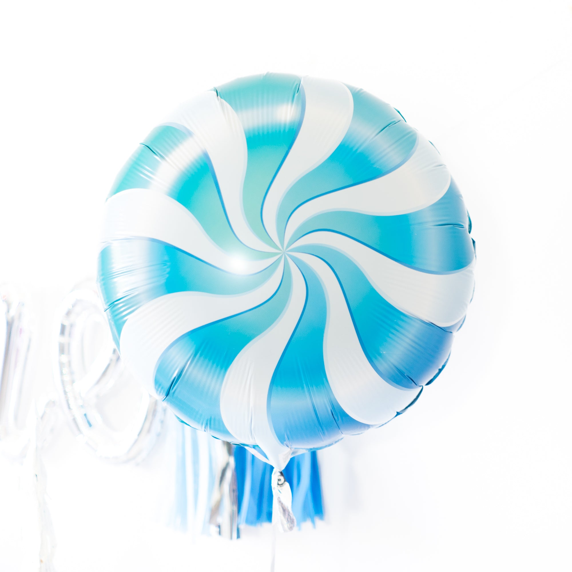 Blue Candy Swirl Balloon