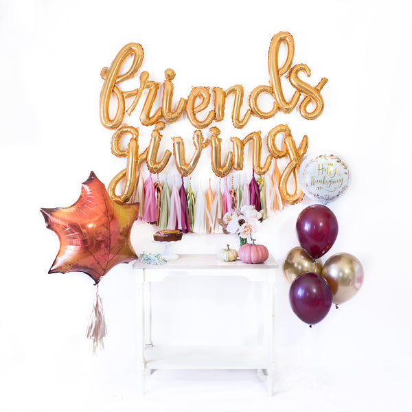 Script Friendsgiving Balloon Tassel Party Box