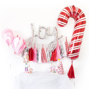 Joy Holiday Balloon Tassel Party Box