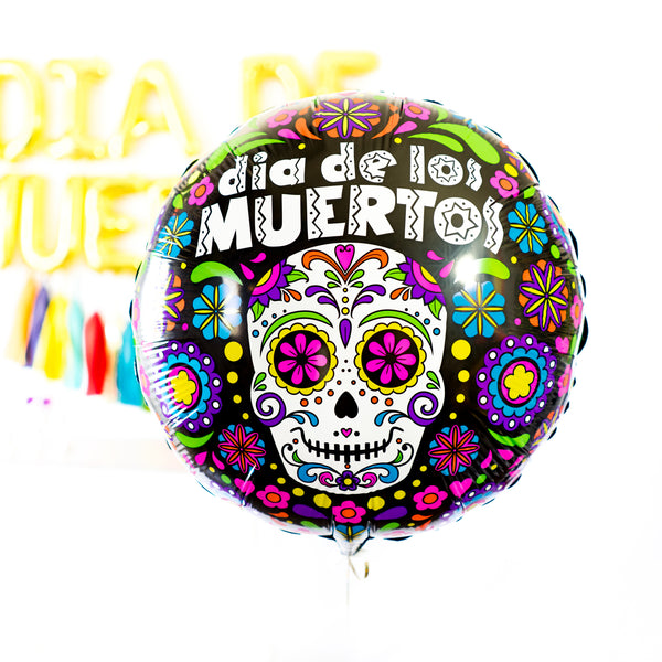 Dia de Muertos Bright Fiesta Balloon Tassel Party Box