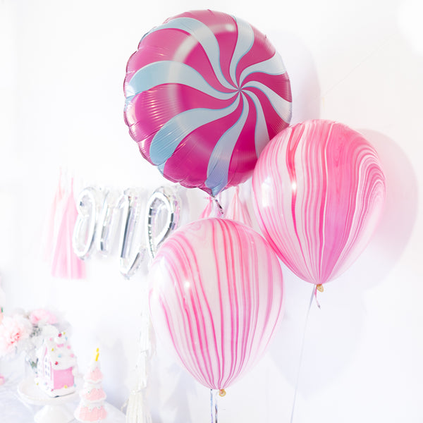 Pink Winter Onederland Candy Swirl Party Box
