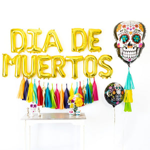Dia de Muertos Fiesta Balloon Tassel Party Box