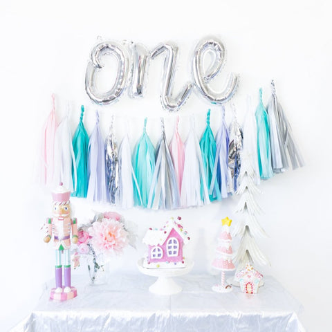 Script One Balloon Banner | Pastel