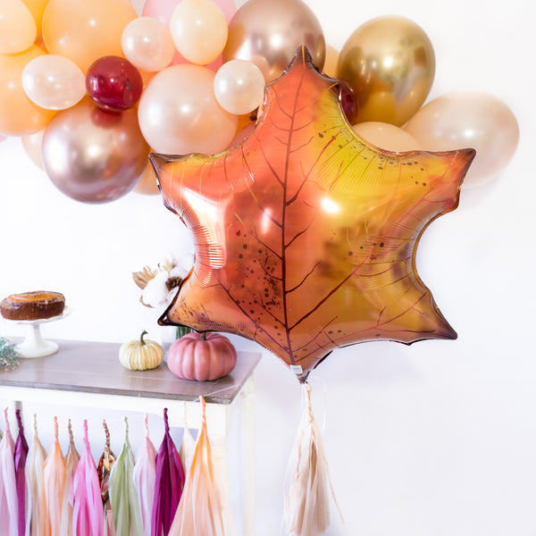 Fall Leaf Balloon Tassel Party Box