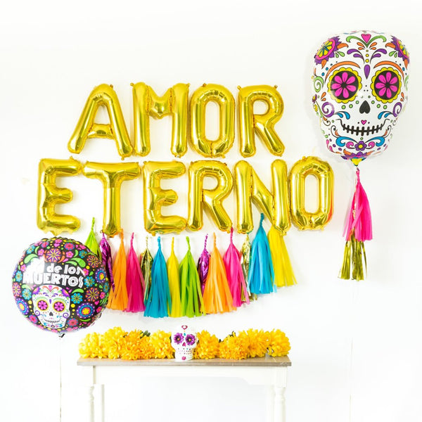 Amor Eterno Tassel Balloon Party Box | Bright