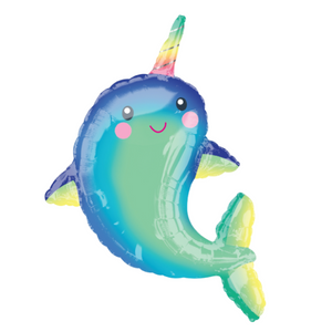 Narwhal Balloon | Rainbow