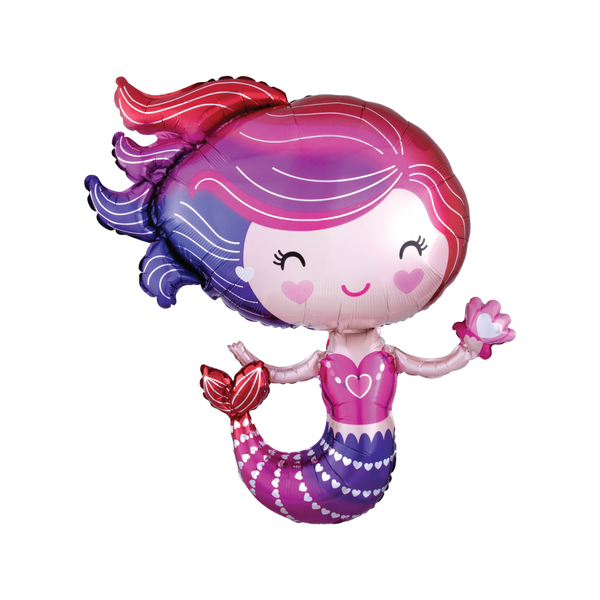 Pink Mermaid Balloon