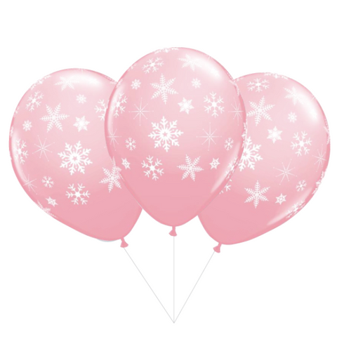 Pink Snowflake Balloon Bouquet