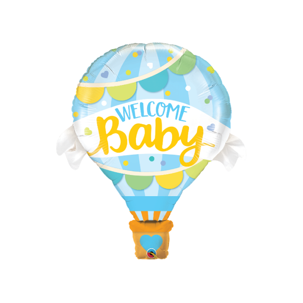 Hot Air Welcome Baby Balloon | Blue