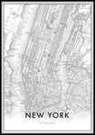 NEW YORK MAP - Cuadro nórdico