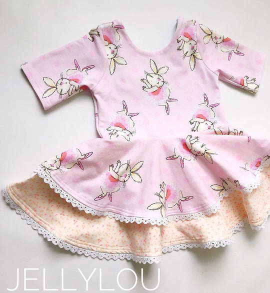 Ready to ship, Dancing Bunny Tunic (sizes 18 months)