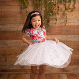 Floral Dot Dress  (Ready to ship)