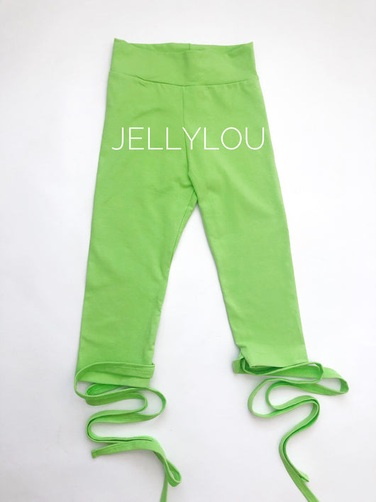 Ready to ship Green Tie Leggings