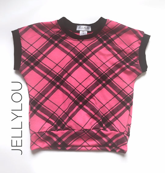 Pink Plaid top (size 4 & 5 ready to ship)