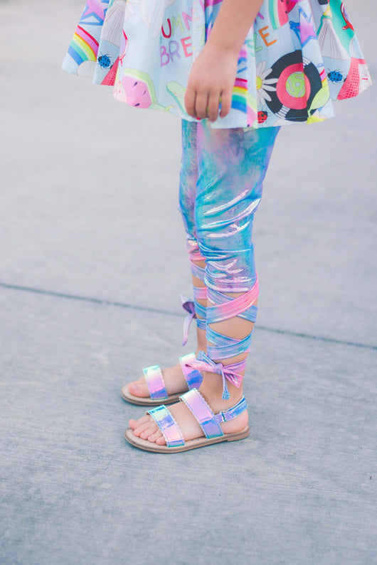 Shiny Rainbow Tie Leggings