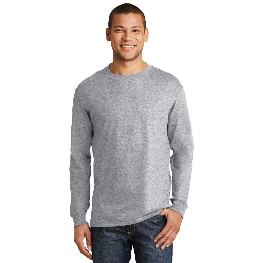 3eb8877db15a6e Venwear - Hanes® Beefy-T® - 100% Cotton Long Sleeve T-Shirt 5186