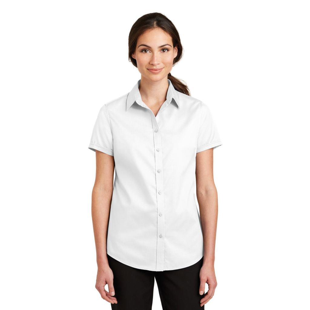 L664 Port Authority Ladies Short Sleeve SuperPro Twill Shirt