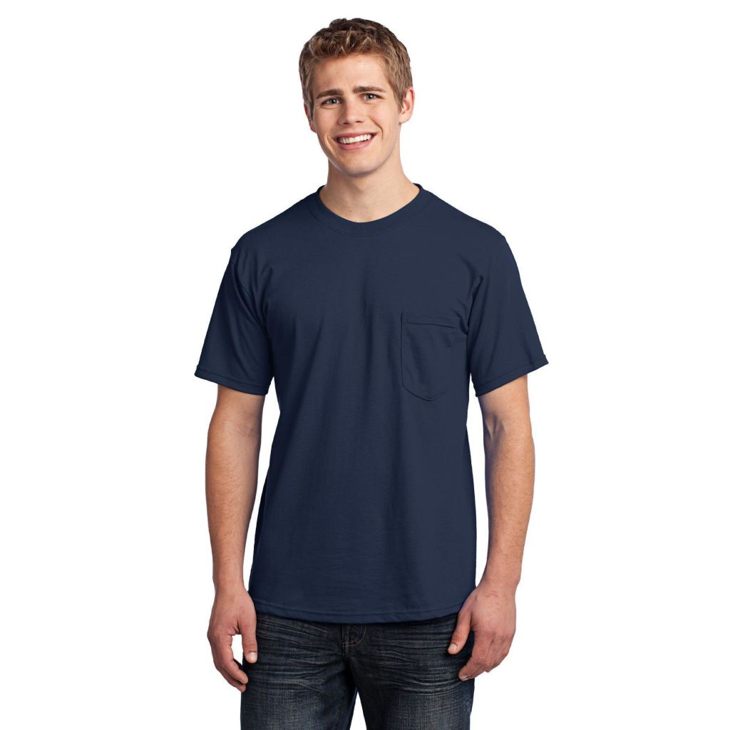 Port /& Company Mens All American Tee with Pocket