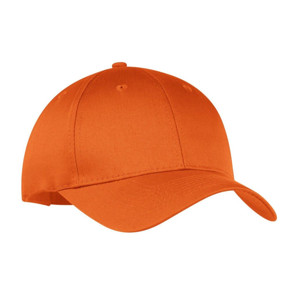 df9caaf712e Port   Company® - Six-Panel Twill Cap Cp80 - Orange   Osfa -