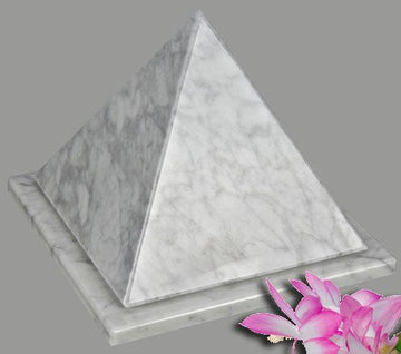 Pyramid White Marble Infant Urn
