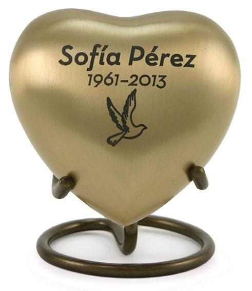 Lineas Rustic Bronze Heart Keepsake