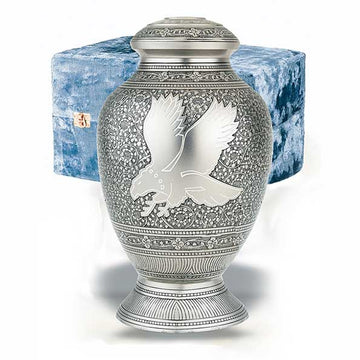 Eagle Solid Brass Cremation Urn