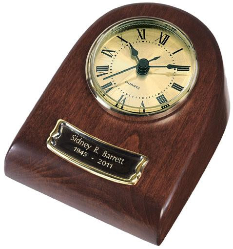 Merlot Mini Clock Wood Keepsake