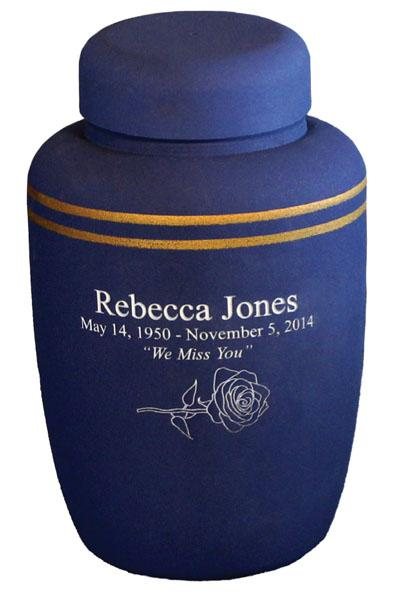 Navy, Gold Cornstarch Biodegradable Urns