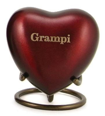 Monterey Ruby Aluminun and Brass Heart Keepsake