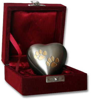 Heart Double Paw Pet Keepsake