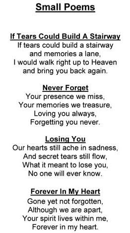 Memorial Poem Pet Wood Urn Medium Horizontal
