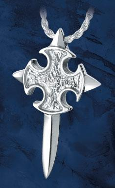 Sword Cross Keepsake Pendant