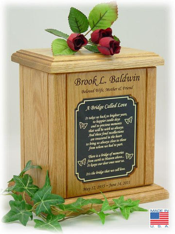 Recessed Decorative Plate Poem Urn