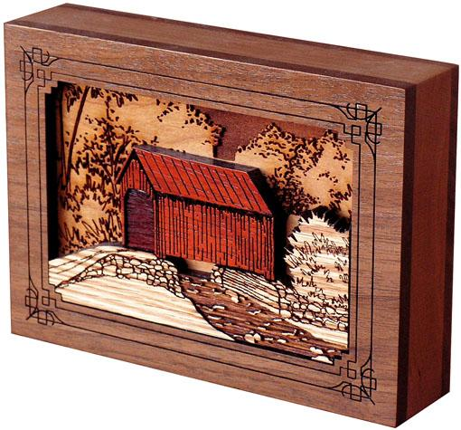 Covered Bridge Wood Keepsake