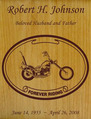 Born to Ride Motorcycle Wood Urn - Chopper
