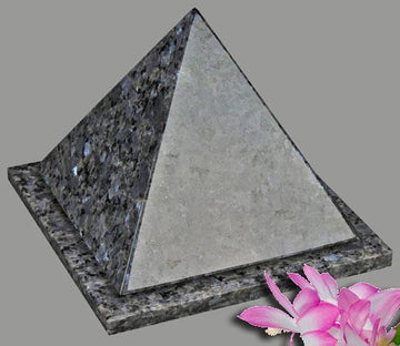 Pyramid Blue Pearl Granite Infant Urn