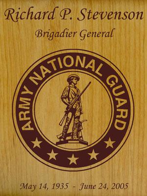 Army National Guard Wood Military Urn